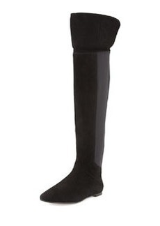 Tory Burch Kevin Suede Over-the-Knee Boot, Black