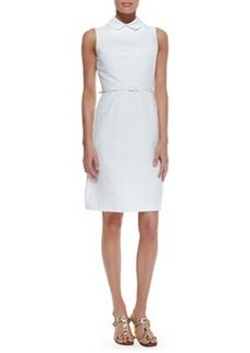 Tory Burch Kimberly Belted Dress With Detachable Collar