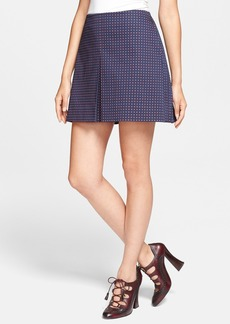 Tory Burch 'Klarissa' Print Pleated Stretch Cotton A-Line Skirt