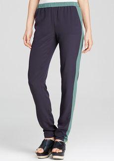 Tory Burch Lennie Slim Silk Pants