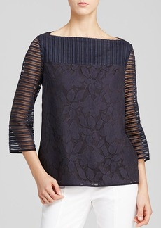 Tory Burch Lindsey Floral Stripe Top