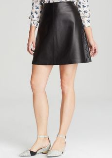 Tory Burch Linley Leather Mini Skirt