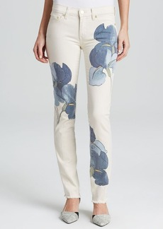 Tory Burch London Super Skinny Iris Print Jeans in Persica