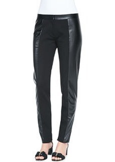 Tory Burch Mabley Ponte Faux-Leather Pants