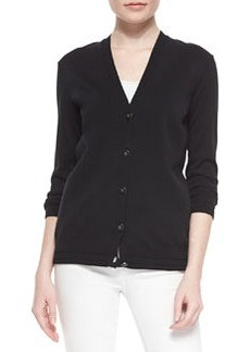 Tory Burch Madison Stretch-Knit V-Neck Cardigan
