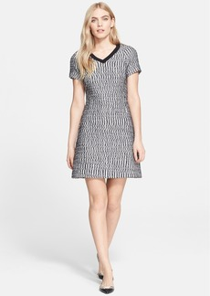 Tory Burch Marbled Tweed A-Line Dress