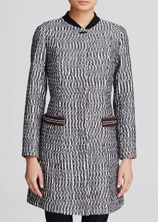 Tory Burch Marbled Tweed Coat