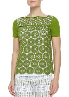 Tory Burch Margaux Crochet-Front Top