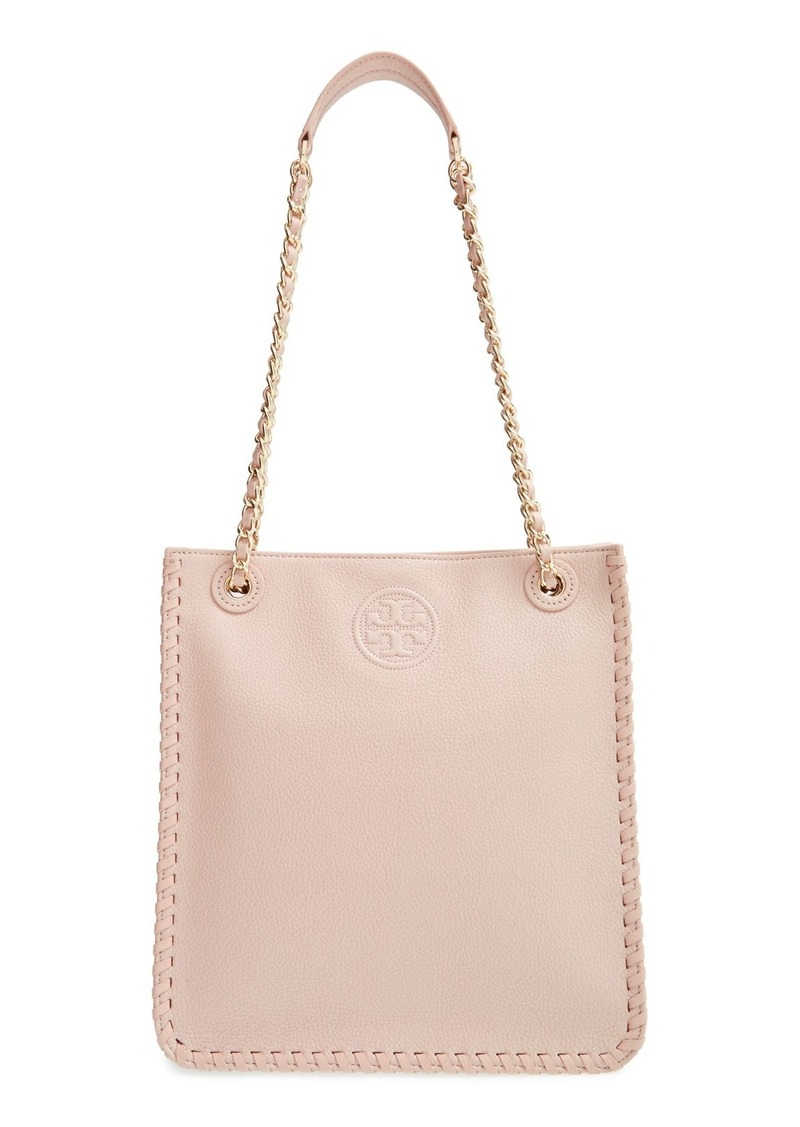 tory burch tory burch 39 marion 39 leather tote handbags shop it to me. Black Bedroom Furniture Sets. Home Design Ideas