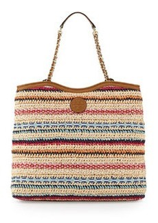 Tory Burch Marion Woven Slouchy Tote Bag, Multi