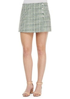 Tory Burch Marlene Faux-Wrap Textured Skort