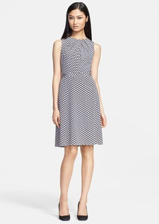 Tory Burch 'Maxine' Stretch Silk A-Line Dress