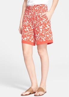 Tory Burch 'Merin' Print Silk Shorts