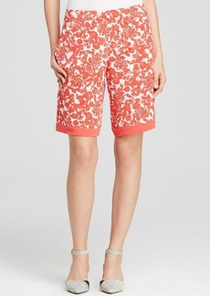 Tory Burch Merin Printed Silk Shorts