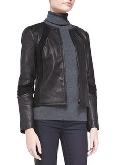 Tory Burch Micky Leather Jacket