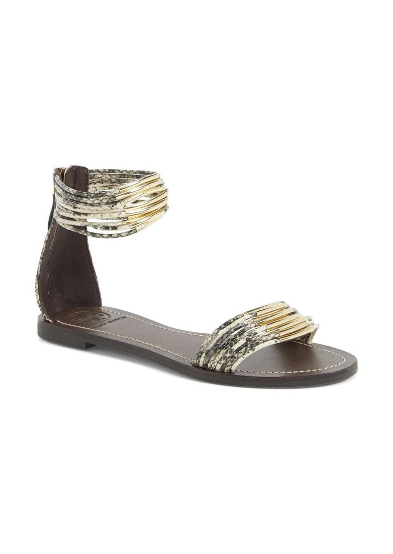 tory burch 39 mignon 39 ankle cuff sandal women shop it to me all sales in one place shop it. Black Bedroom Furniture Sets. Home Design Ideas