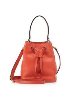 Tory Burch Mini Leather Bucket Bag, Blaze