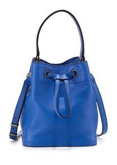 Tory Burch Mini Leather Bucket Bag, Neptune