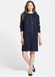 Tory Burch 'Miriam' Print Sweater Coat