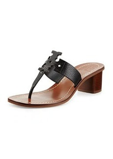 Tory Burch Moore Leather Logo City Sandal, Black
