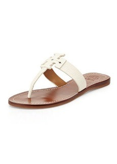 Tory Burch Moore Leather Thong Sandal, Ivory