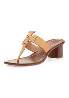 Tory Burch Moore Logo Thong City Sandal, Royal Tan