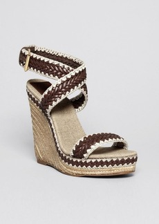 Tory Burch Open Toe Platform Wedge Sandals - Lilah High Heel