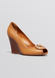 Tory Burch Open Toe Wedge Pumps - Selma