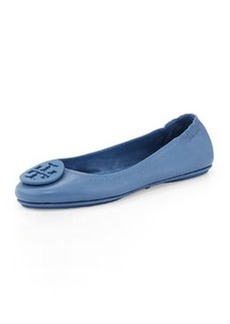 Tory Burch Packable Leather Travel Flat, Laguna
