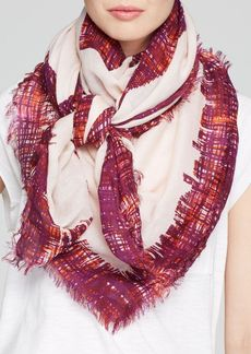 Tory Burch Painted Hash Print Square Scarf