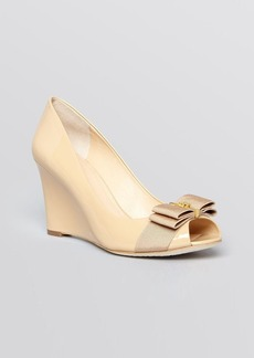 Tory Burch Peep Toe Wedge Pumps - Trudy