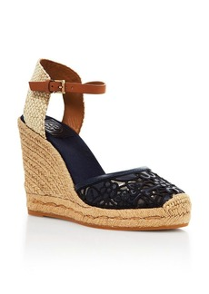 Tory Burch Platform Wedge Espadrille Sandals - Lucia Lace