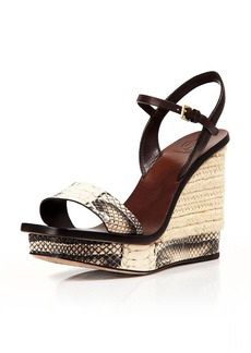 Tory Burch Platform Wedge Espadrille Sandals - Malaga Snake Bloomingdale's Exclusive