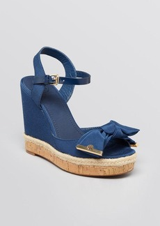 Tory Burch Platform Wedge Sandals - Penny