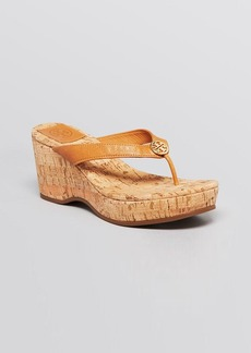 Tory Burch Platform Wedge Thong Sandals - Suzy Cork