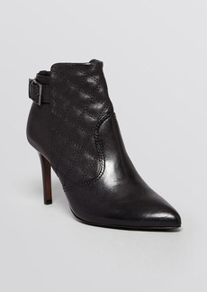 Tory Burch Pointed Toe Booties - Orchard Quilt High Heel