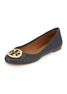 Tory Burch Reva Perforated Leather Ballet Flat, Tory Navy