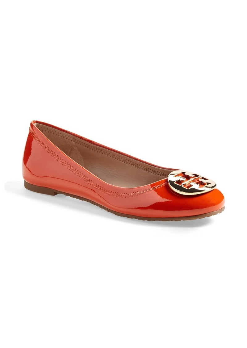 tory burch tory burch 39 reva 39 leather ballet flat women shoes shop it to me. Black Bedroom Furniture Sets. Home Design Ideas