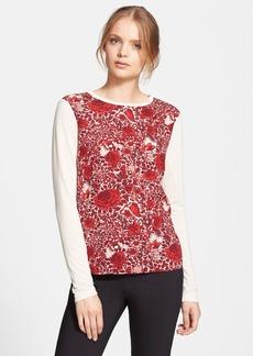 Tory Burch 'Roanan' Floral Print Long Sleeve Tee