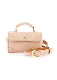 Tory Burch Robinson Patent Waistpack, Light Oak