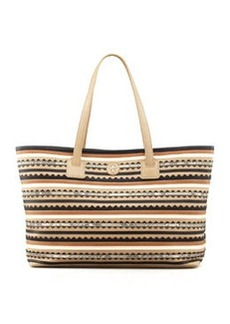 Tory Burch Robinson Zig Zag East-West Tote Bag