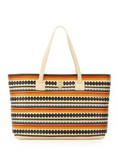 Tory Burch Robinson Zigzag East-West Tote Bag, Multicolor
