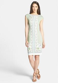 Tory Burch 'Ryan' Print Silk Body-Con Dress