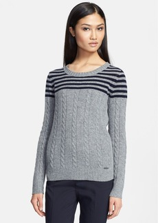 Tory Burch 'Sharlene' Stripe Merino Wool Sweater
