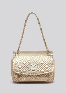 Tory Burch Shoulder Bag - Small Marion Quilted Metallic