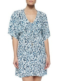 Tory Burch Sierra Printed Drawstring Tunic Coverup