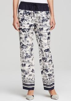 Tory Burch Silk Drawstring Pants