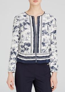 Tory Burch Silk Peplum Jacket
