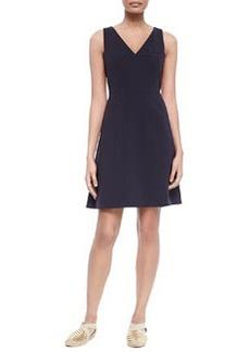 Tory Burch Sleeveless V-Neck Fit & Flare Dress