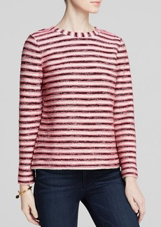 Tory Burch Terry Stripe Pullover